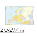 Mapa mudo color tamaño A4 europa político