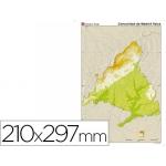 Mapa mudo color tamaño A4 madrid fisico