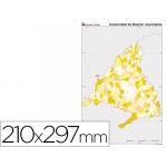 Mapa mudo color tamaño A4 madrid político