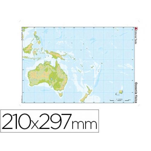 Mapa Mudo Color Tamano A4 Oceania Fisico Papeleria Distrimar