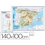 Mapa mural españa fisico/politico 140 x 100 cm