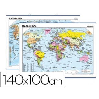 Mapa mural mundi planisferio 140 x 100 cm