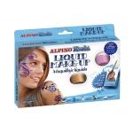 Maquillaje liquido set de 8 colores surtidos mas pincel