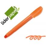 Marcador de cera gel Liderpapel fluorescente color naranja