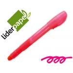 Marcador de cera gel Liderpapel fluorescente color rosa