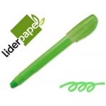 Marcador de cera gel Liderpapel fluorescente color verde