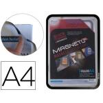 Marco porta anuncios Tarifold magneto tamaño A4 con 4 bandas magnéticas en el dorso color negro pack de 2 unidades