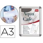 Expositor porta anuncios nobo clipdown tamaño A3 marco de aluminio con cantoneras
