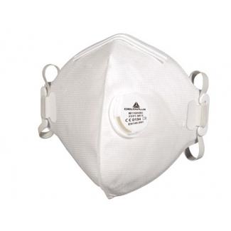 Mascarilla Deltaplus de protección uso unico con valvula lamina nasal ajustableclase ffp1 caja de 10 unidades