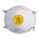 Mascarilla Deltaplus de protección uso unico con valvula lamina nasal ajustableclase ffp2 caja de 10 unidades
