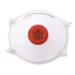 Mascarilla Deltaplus de protección uso unico con valvula lamina nasal ajustableclase ffp3 caja de 10 unidades
