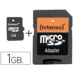 Memoria sd micro Intenso flash 1 gb con adaptador