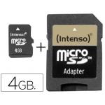Memoria sdhc micro Intenso flash 4 gb con adaptador