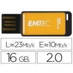 Memoria usb E mt ec flash 16 gb 2.0 em-desk 23mb/s color amarillo