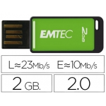 Memoria usb E mt ec flash 2gb 2.0 em-desk 23mb/s color verde