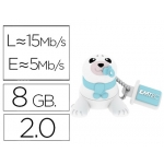 Memoria usb E mt ec flash 8 gb 2.0 animals bebe foca