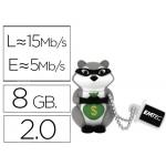 Memoria usb E mt ec flash 8 gb 2.0 animals mapache