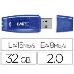 Memoria usb E mt ec flash c410 32 gb 2.0 color azul