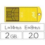 Memoria usb Ipq flash mini 2 gb 2.0 slim w0aterproof color amarillo