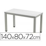 Mesa de oficina Rocada executive aluminio /gris 140x80 cm