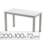 Mesa de oficina Rocada executive aluminio /gris 200x100 cm