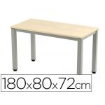 Mesa de oficina Rocada executive aluminio /haya 180x80 cm