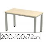 Mesa de oficina Rocada executive aluminio /haya 200x100 cm