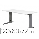 Mesa de oficina Rocada metal aluminio /blanco 120x60 cm