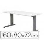Mesa de oficina Rocada metal aluminio /blanco 160x80 cm