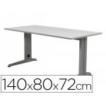 Mesa de oficina Rocada metal aluminio /gris 140x80 cm