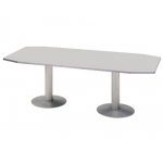 Mesa reunion meeting estructura aluminio tablero color gris 220x100x72 cm