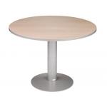 Mesa reunion redonda meeting estructura aluminio tablero haya 120 cm diámetro