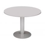Mesa reunion redonda meeting estructura aluminio tablero wengue 100 cm diámetro