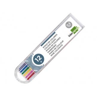 Liderpapel ML06 - Minas de grafito, 0,5, estuche de 12 unidades, colores surtidos