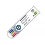 Liderpapel ML07 - Minas de grafito, 0,7, colores surtidos, estuche de 12 unidades