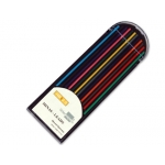 Liderpapel ML02 - Minas de grafito, 2 mm, colores surtidos, estuche de 12 unidades
