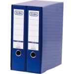 Módulo Elba 2 archivadores de palanca tamaño A4 con rado 2 anillas color azul lomo de 80 mm
