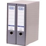 Módulo Elba 2 archivadores de palanca tamaño A4 con rado 2 anillas color gris lomo de 80 mm