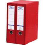 Módulo Elba 2 archivadores de palanca tamaño A4 con rado 2 anillas color rojo lomo de 80 mm