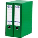 Módulo Elba 2 archivadores de palanca tamaño A4 con rado 2 anillas color verde lomo de 80 mm