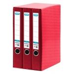 Modulo Elba 3 archivadores de palanca tamaño A4 2 anillas color rojo lomo de 50 mm