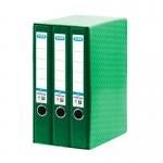 Modulo Elba 3 archivadores de palanca tamaño A4 2 anillas color verde lomo de 50 mm