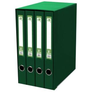 Modulo Liderpapel 4 archivadores tamaño folio 2 anillas mixtas 25 mm color verde