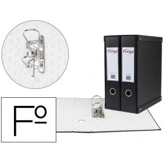 Modulo Pardo 2 archivadores de palanca tamaño folio 2 anillas de 70 mm color negro
