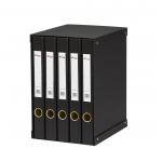 Modulo Pardo 5 archivadores de palanca tamaño folio 2 anillas de 25 mm color negro