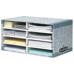 Modulo clasificador cartón Fellowes con 8 compartimentos 490x310x260 mm