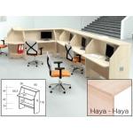 Mostrador de recepción Rocada welcome recto haya/ haya 80x66,5x118 cm