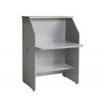 Mostrador de recepción recto welcome estrctura aluminio y tablero color gris 80x67x118 cm
