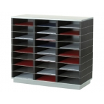 Mueble auxiliar Fast-PaperFlow 27 casillas plastico-metal 75x69x32,8 cm y
