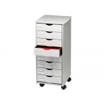 Mueble auxiliar Fast-PaperFlow para oficina negro 8 cajones en color gris 5x825x382 71,5x31,6x34,3 cm
